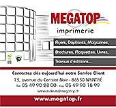 pub de MEGATOP IMPRIMERIE