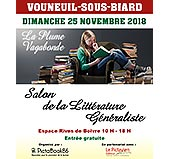 pub SALON DE LA LITTERATURE GENERALISTE - 25 NOVEMBRE 2018